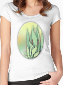 Abstract Plant in the Summer Women's Fitted Scoop T-Shirt