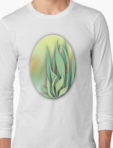Abstract Plant in the Summer Long Sleeve T-Shirt