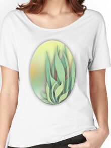 Abstract Plant in the Summer Women's Relaxed Fit T-Shirt