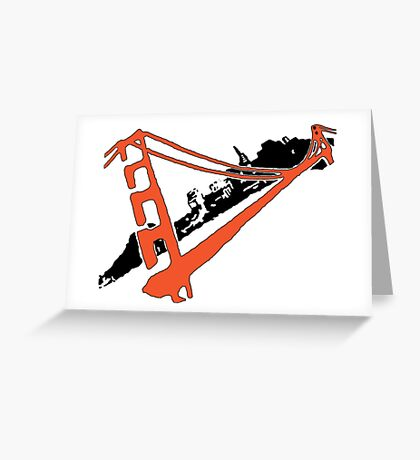 San Francisco Giants Stencil Team Colors Greeting Card