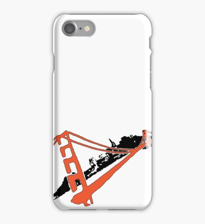 San Francisco Giants Stencil Team Colors iPhone Case/Skin