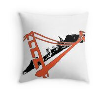 San Francisco Giants Stencil Team Colors Throw Pillow