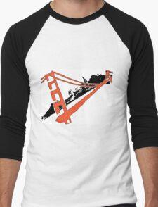 San Francisco Giants Stencil Team Colors Men's Baseball ¾ T-Shirt