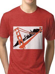 San Francisco Giants Stencil Team Colors Tri-blend T-Shirt