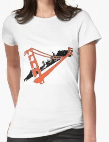 San Francisco Giants Stencil Team Colors Womens Fitted T-Shirt