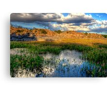 Rock Wall Surrounded Canvas Print