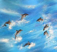Danc'n Dolphins...... by WhiteDove Studio kj gordon