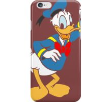 Donald Duck without borders iPhone Case/Skin
