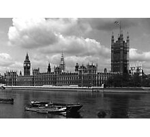 BW UK England London The houses of parliament 1970s Photographic Print