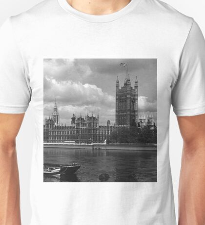 BW UK England London The houses of parliament 1970s Unisex T-Shirt