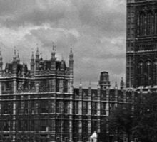BW UK England London The houses of parliament 1970s Sticker