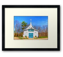 Little Country Chapel Framed Print