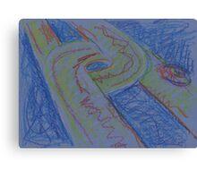 UFO HWY(SKETCH - PASTELS)(C2015) Canvas Print
