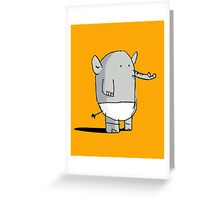 Baby Elephant in Diapers Greeting Card