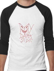 My Dark Side Typographic Quote Men's Baseball ¾ T-Shirt