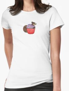 Squirrel in My Cupcake Womens Fitted T-Shirt