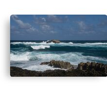 Boiling the Ocean at Laie Point, Oahu's North Shore in Hawaii Canvas Print