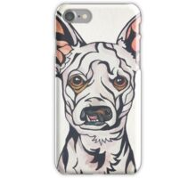 Dog Art #28: Weisswurst the Chihuahua Poodle iPhone Case/Skin