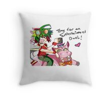 time for an entertainment duel Throw Pillow