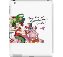 time for an entertainment duel iPad Case/Skin