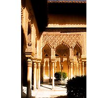 The Nasrid Palaces at the Alhambra Spain Photographic Print
