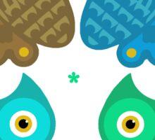 Colorful Cartoon Owl Pattern Sticker