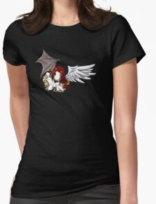 Flying Chibi Kuroitenshi Womens Fitted T-Shirt