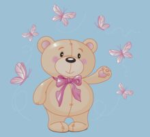 Teddy bear with butterflies Kids Clothes