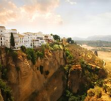 View from the Puente Nuevo Bridge ovelooking the Tajo de Ronda gorge by Mal Bray