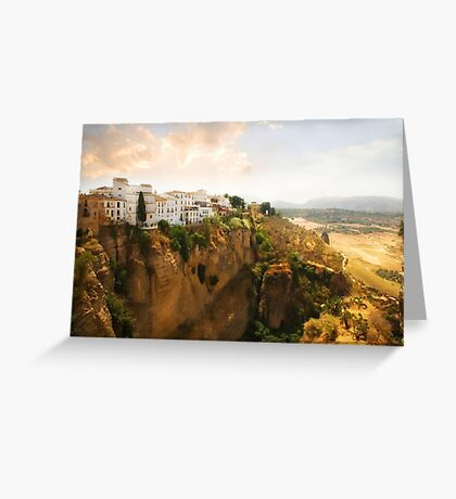 View from the Puente Nuevo Bridge ovelooking the Tajo de Ronda gorge Greeting Card