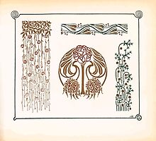 Maurice Verneuil Georges Auriol Alphonse Mucha Art Deco Nouveau Patterns Combinaisons Ornementalis 0045 by wetdryvac
