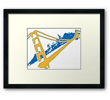 Golden State Warriors Stencil Team Colors Framed Print
