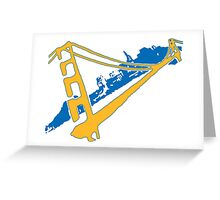 Golden State Warriors Stencil Team Colors Greeting Card