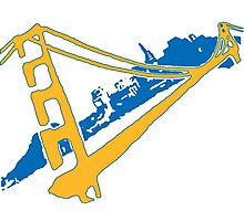 Golden State Warriors Stencil Team Colors Photographic Print