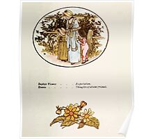 Language of Flowers Kate Greenaway 1884 0051 Descriptions of Specific Flower Significations Poster