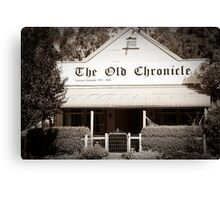 The Old Chronicle Canvas Print