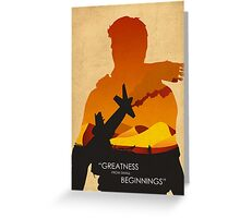 Greatness from small Beginnings Greeting Card