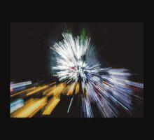 Abstract Christmas Lights - Burst of Colors Kids Tee