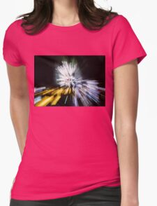 Abstract Christmas Lights - Burst of Colors Womens Fitted T-Shirt