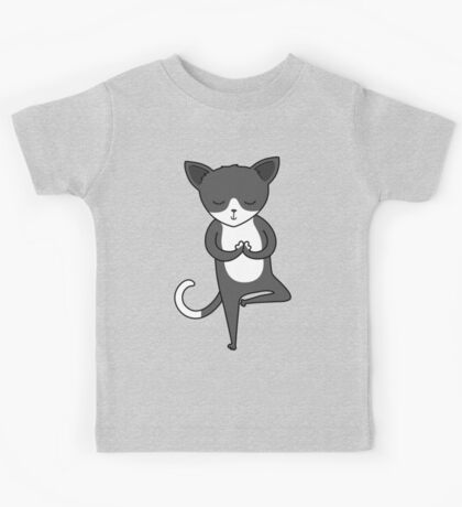 Yoga Cat Kids Tee
