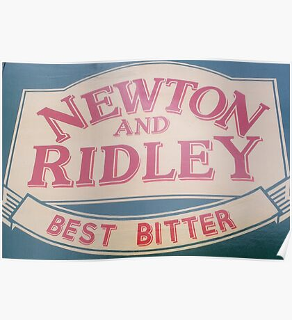 Newton and Ridley sign, Rovers return, Coronation street. Poster