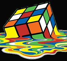 Melted Rubik's Cube T Shirts, Stickers and Other Gifts by zandosfactry