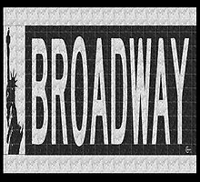 BROADWAY DECO SWING NYC Street Sign  by CecelyBloom