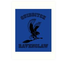 Ravenclaw Quidditch - Varsity style Art Print