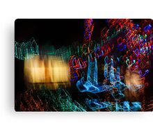 Abstract Christmas Lights - Color Twists and Swirls  Canvas Print