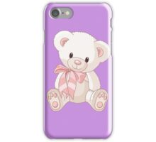 Cute teddy bear with bow iPhone Case/Skin