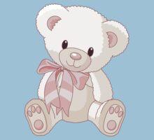 Cute teddy bear with bow One Piece - Short Sleeve