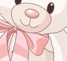 Cute teddy bear with bow Sticker