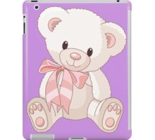 Cute teddy bear with bow iPad Case/Skin