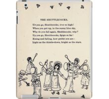 Miniature Under the Window Pictures & Rhymes for Children Kate Greenaway 1880 0018 The Shuttlecocks iPad Case/Skin